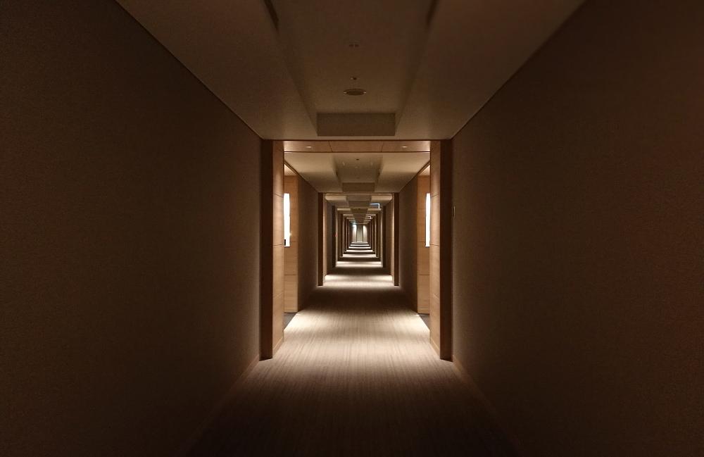神戸みなと温泉 廊下