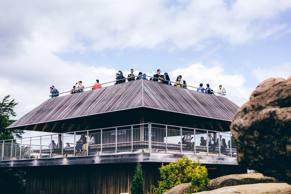 弥山の展望台