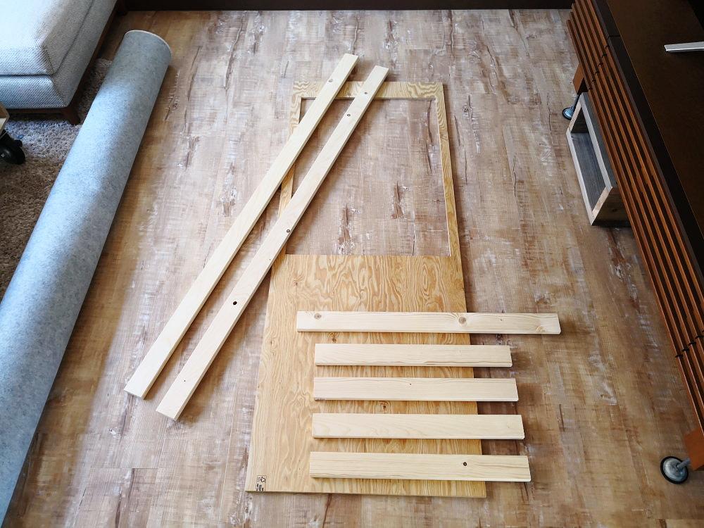キッチン台を組み上げる