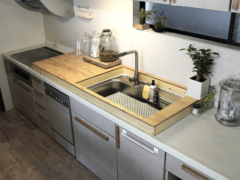 キッチンの高さを上げるDIY完成