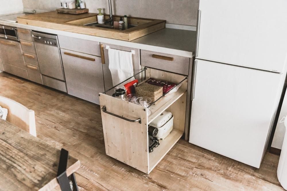 オリジナルキッチンワゴン