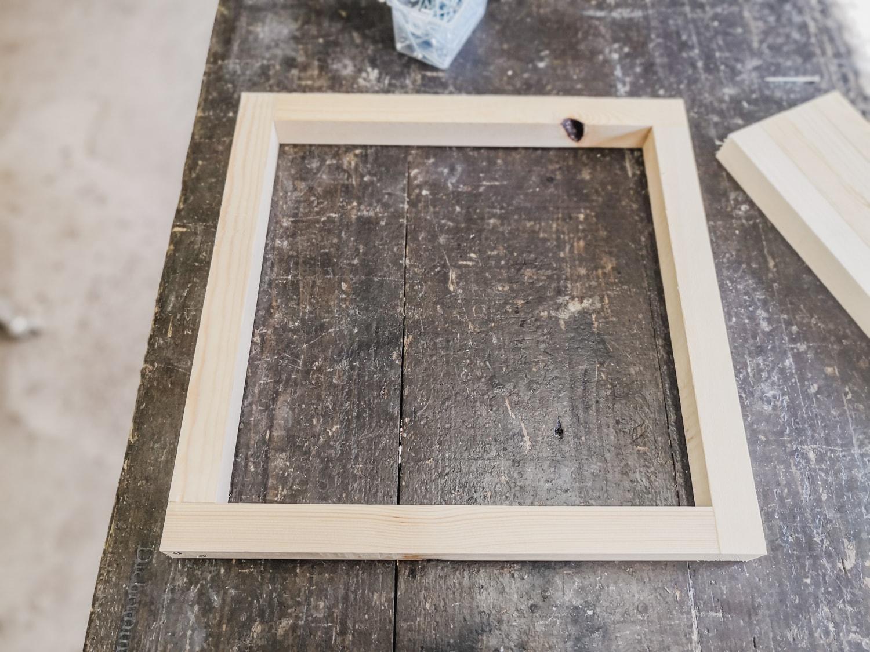 四方枠を組む