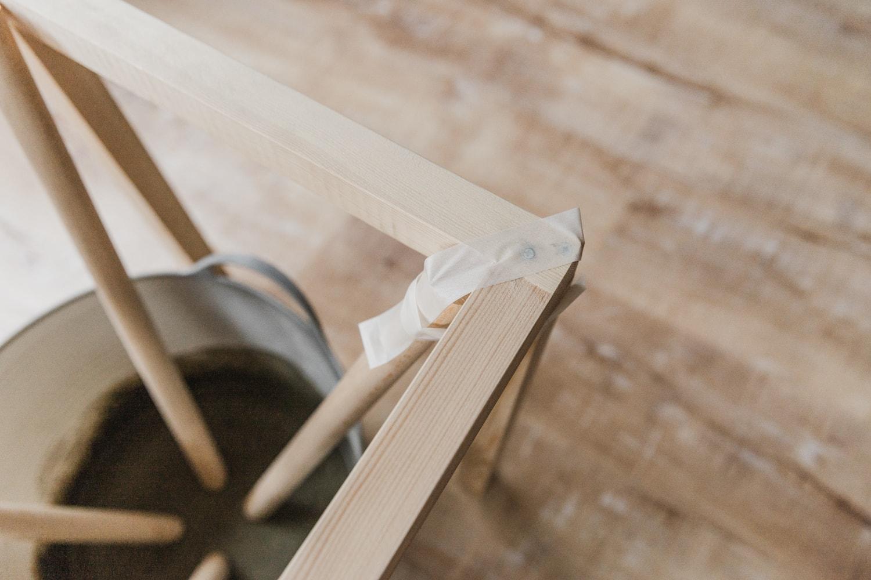 木枠に固定