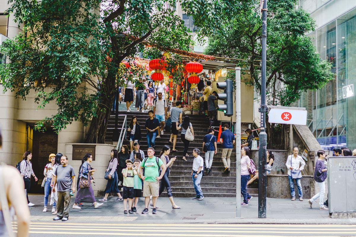 香港の中環(central)