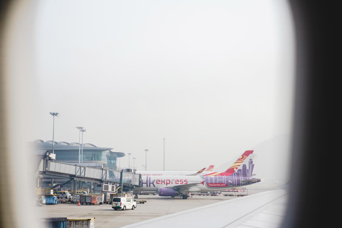 香港へ到着