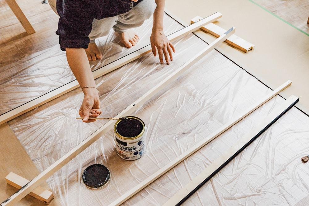 塗装の助手