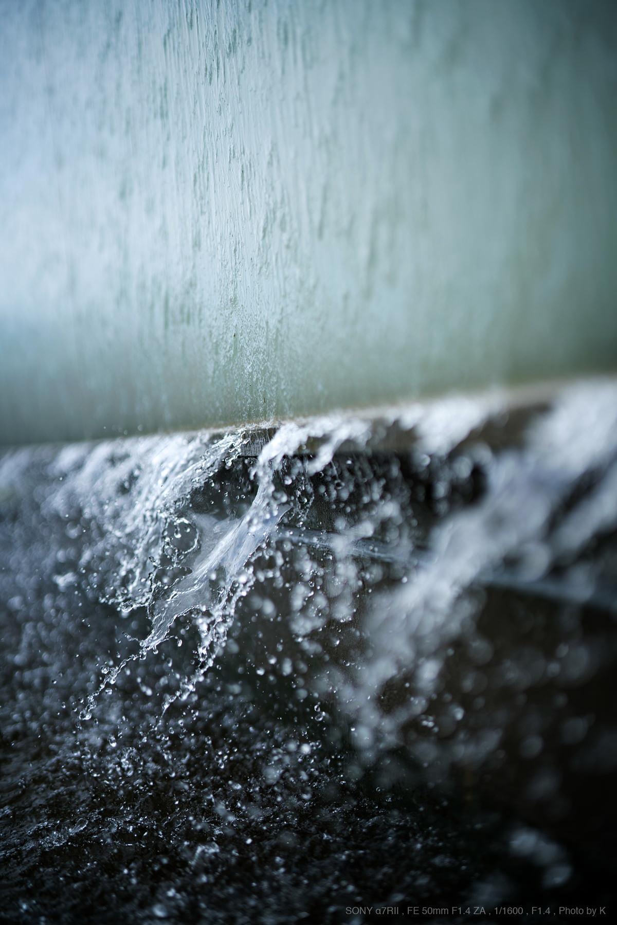 水しぶきが綺麗な写真