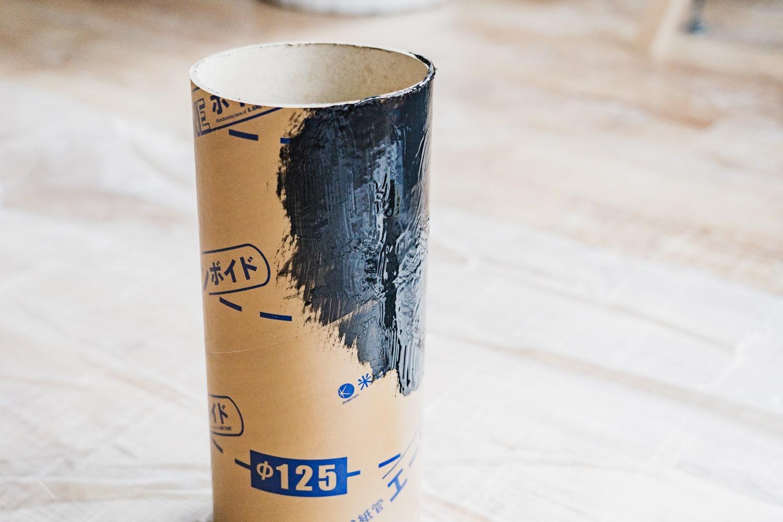 ボイド管を塗装