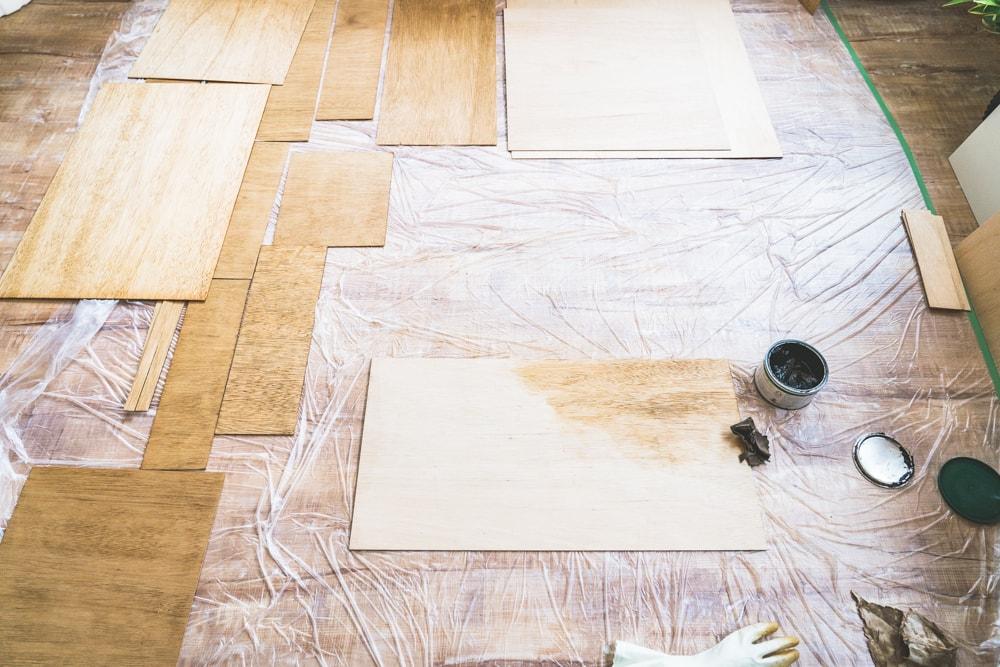ベニヤ板塗装